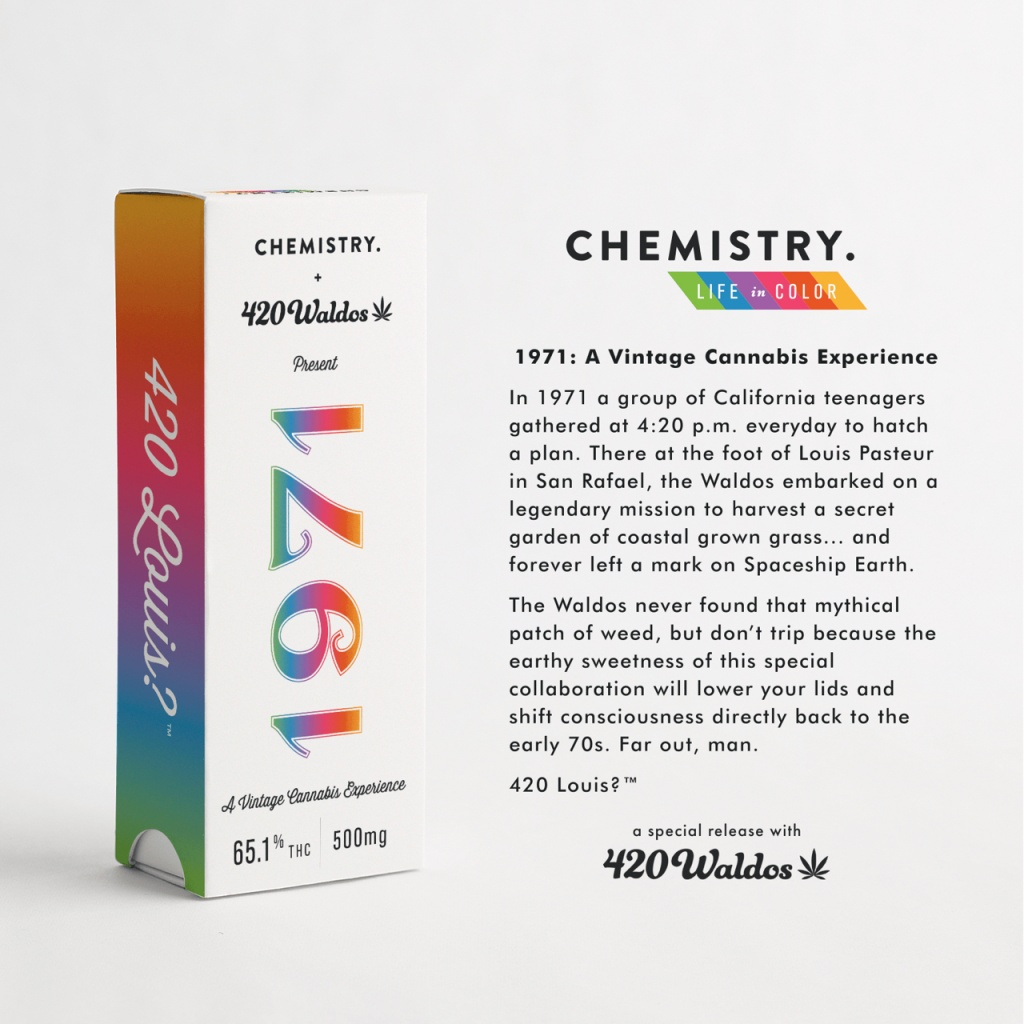 "The Oakland cannabis company Chemistry collaborates with the inventors of ""420"" to raise money for ending cannabis prohibition nationally."