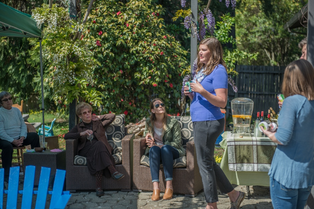 At a recent party in Healdsburg, Garden Society's Erin Gore led a discussion about cannabis and its uses for pain, stress and sleep. | Photo by Cynthia Glassell