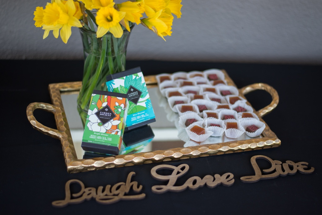 Garden Society, a maker of cannabis-infused confections, displayed its wares (for show, not for consumption) at a recent social in Healdsburg. | Photo by Cynthia Glassell