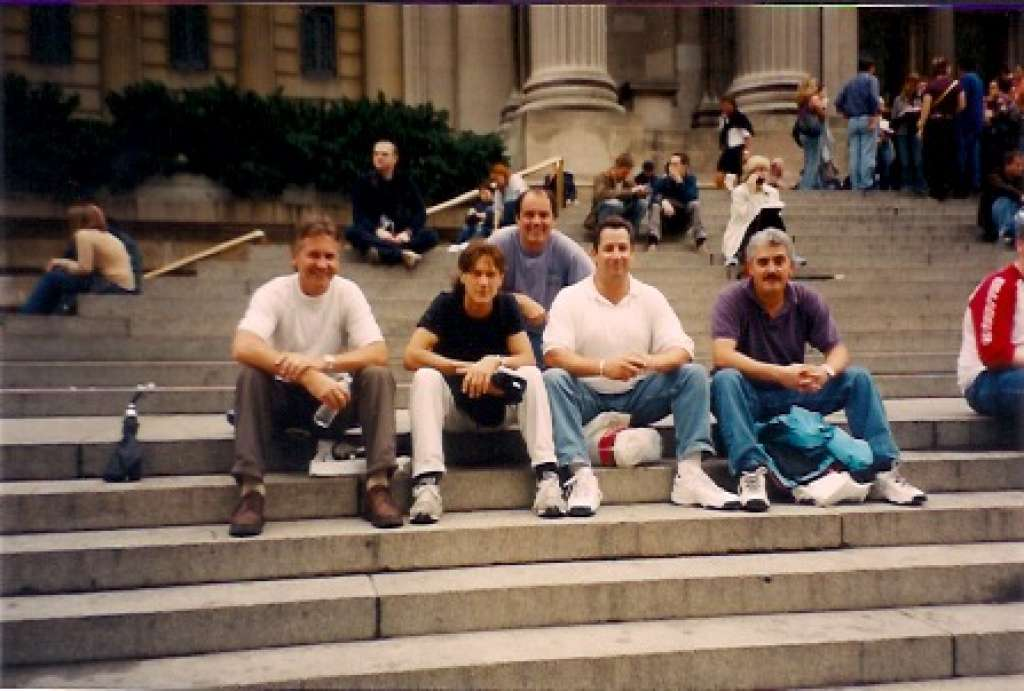 A vintage photo of a meetup of The Waldos at the New York Met. | Photo courtesy of The Waldos