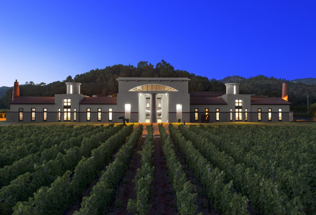 Clos Pegase, Michael Graves construction, winery, design, Napa, California, The Press