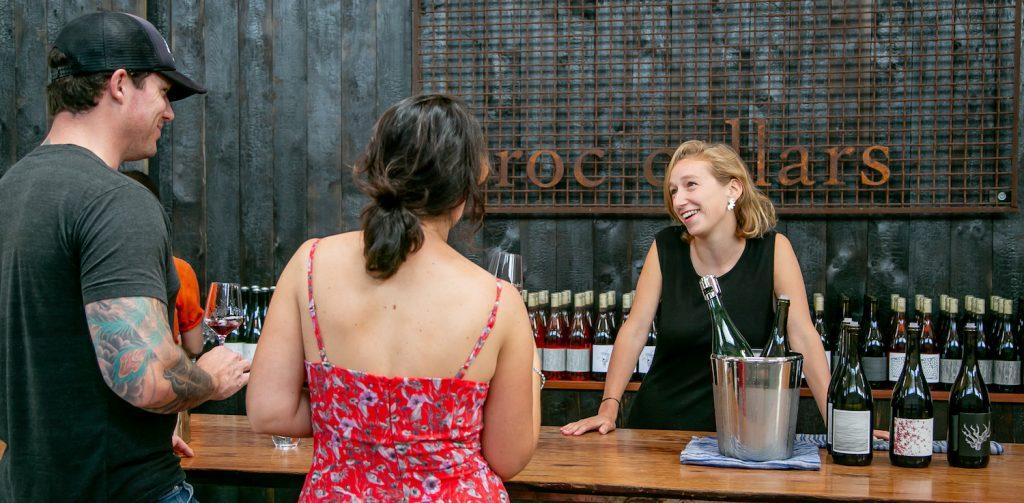 Broc Cellars, couple drinking wine, wine tasting, people drinking wine, wine tasting, Berkeley, East Bay, California, The Press