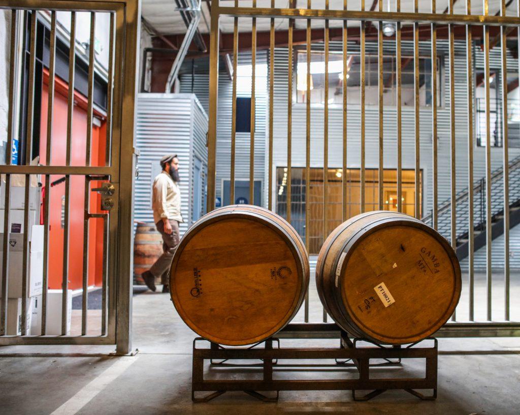 Covenant, wines, kosher wines, wine barrels, winery, Berkeley, California, The Press