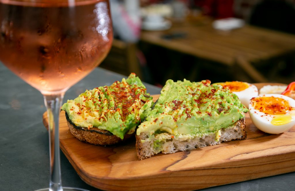 Bartavelle, wine bar, rose, avocado toast