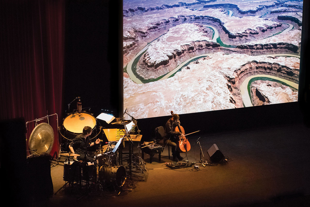 multimedia work The Colorado in performance