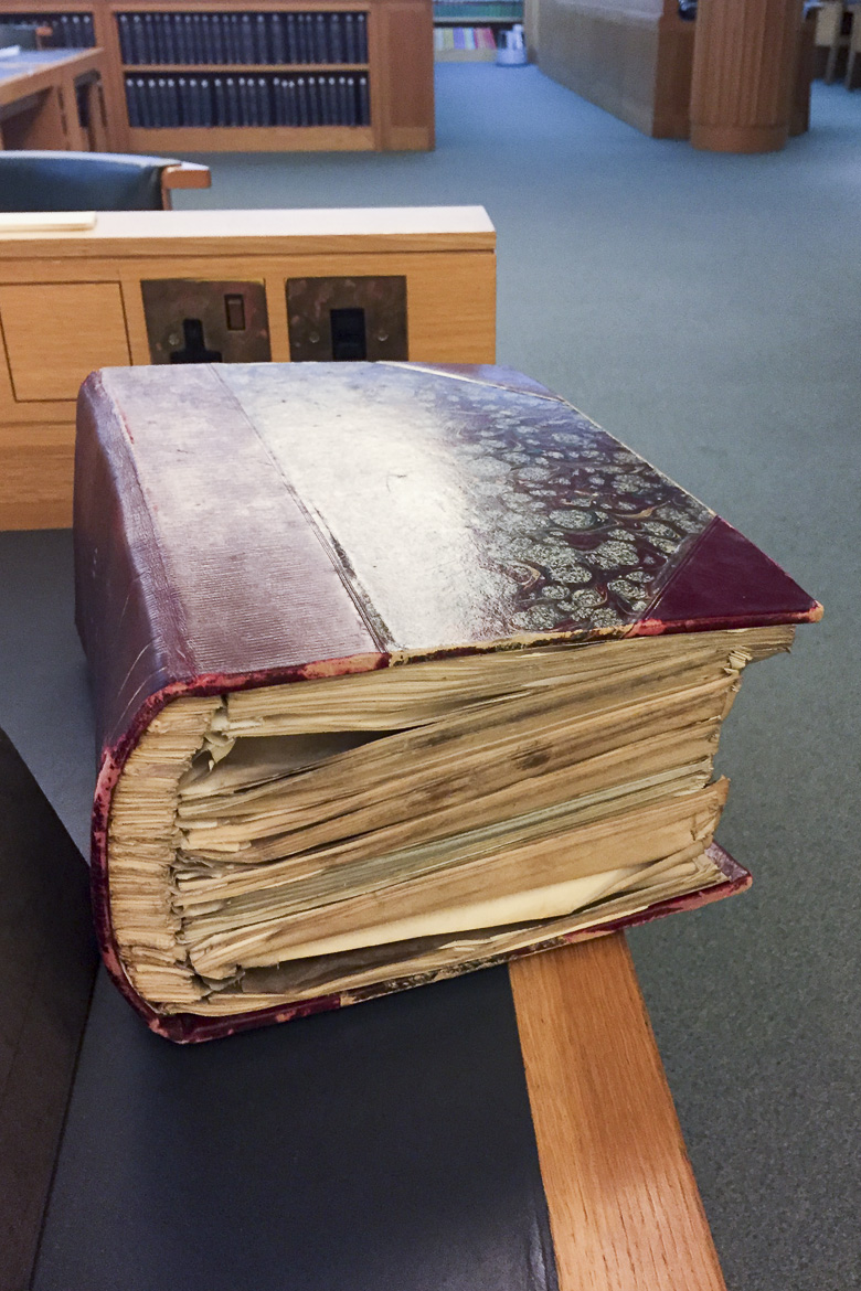 Senior Holly Dayton studied this collection of plays from 1914 to 1918 at the British Library as part of her history honors thesis research.