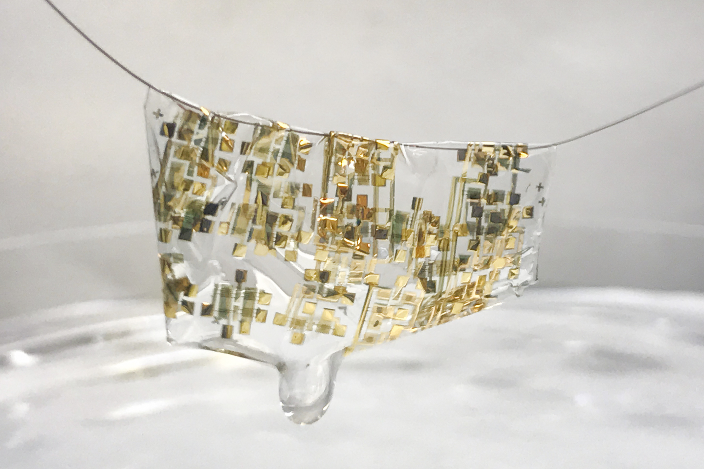 Flexible, biodegradable semiconductor on a human hair