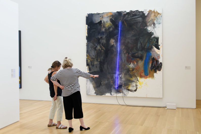 """Mary Weatherford's """"black painting"""""""