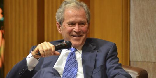 Former President George W. Bush (Photo by Rod Searcey)