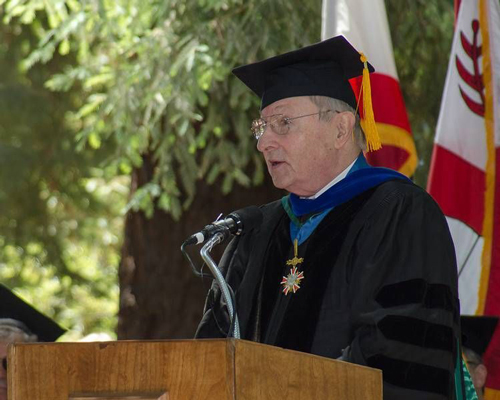 Weiler delivered the Graduate School of Education's Commencement address in 2013. (Photo Credit: Chris Wesselman/Stanford Graduate School of Education)
