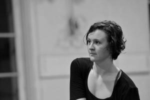 Black and white photo of Katherine Hawthorne