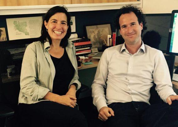 Nicole Coleman and Dan Edelstein (Credit: Pui Shiau, Office of International Affairs)
