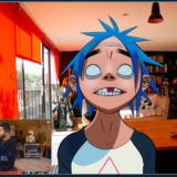 Gorillaz's 2-D and Damon Albarn Perform 'Aries' on Kimmel Live