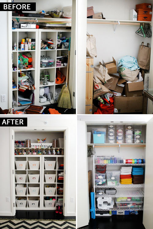 Before After The Ultimate Craft Closet Brit Co