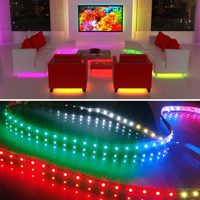 Light it up 15 awesome led projects brit co - Cool lights for living room ...
