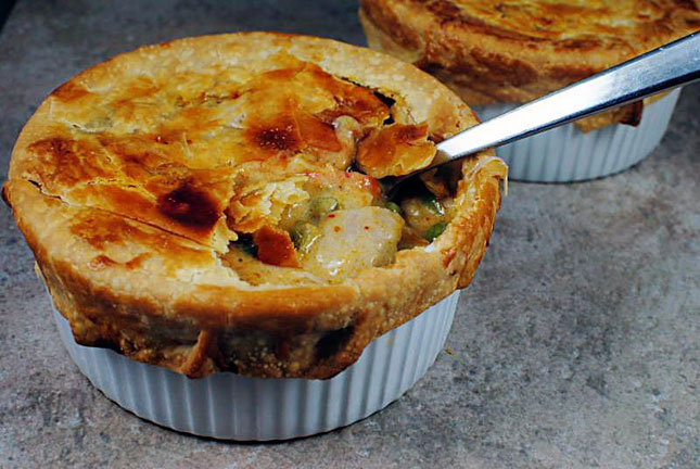 Curried turkey pot pie thanksgiving means winter winter means