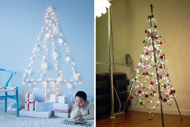 How Do U String Lights On A Christmas Tree : Let There Be Light! 20 Festive Holiday Light Ideas Brit + Co