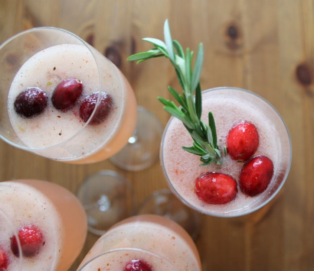 Anyone Cran Make Our Cranberry Pear Ginger Fizz | Brit + Co