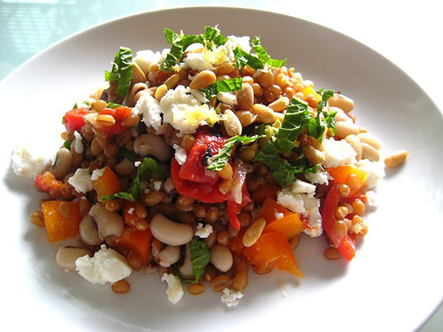 Wheat Berry + Black Eyed Peas Salad : Another option on the ...