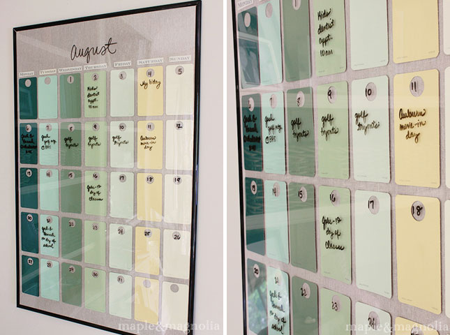 Diy Calendar Paint Chips : Awesome paint chip diy projects brit co