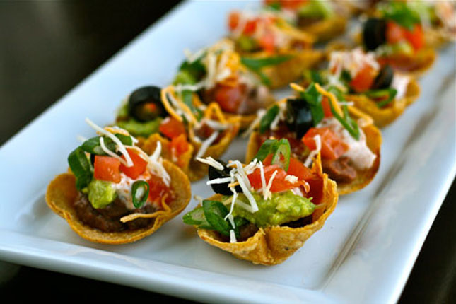 Mini 7 Layer Dip Tostadas : Forget the hunt for that perfectly long ...