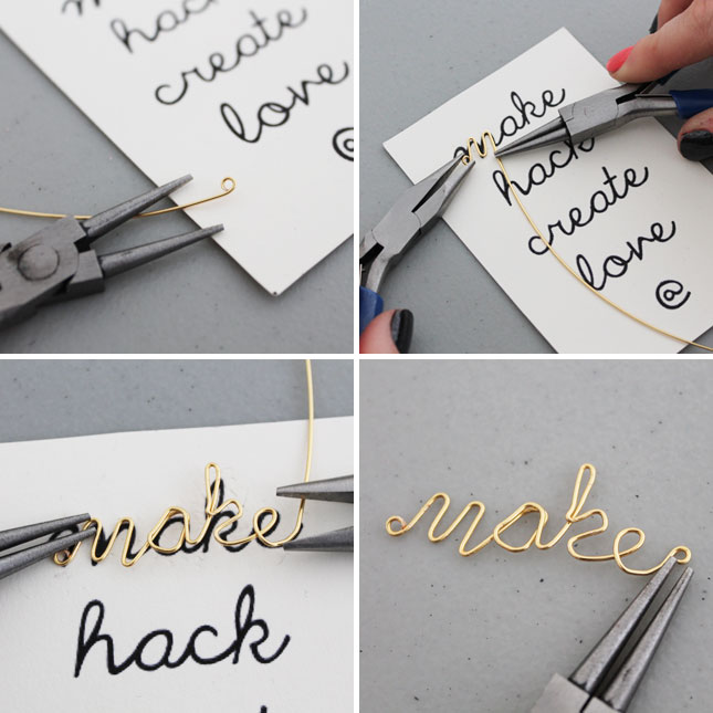 Wire Word Jewelry DiyCraft Danning