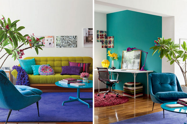 12 Unbelievably Colorful Living Rooms Brit Co