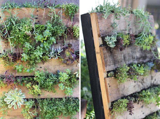 ... your very own herb garden, go vertical with it. (via Design*Sponge