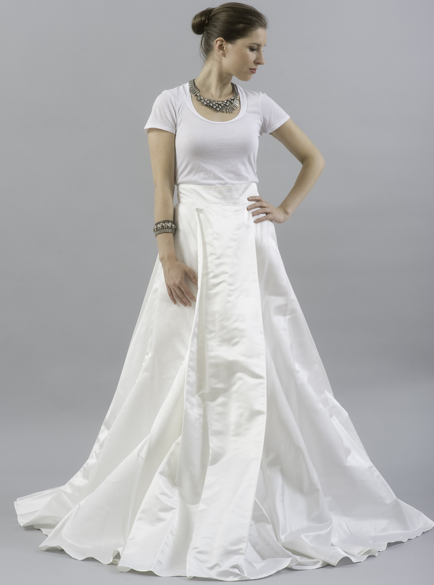 20 unconventional wedding dresses for the modern bride for Simple modern wedding dress