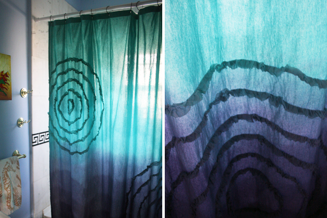 How To Make A Dip Dyed Ombre Shower Curtain Brit Co