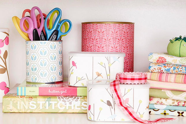 Upcycle Cans and Tins : We're always looking for cute & useful