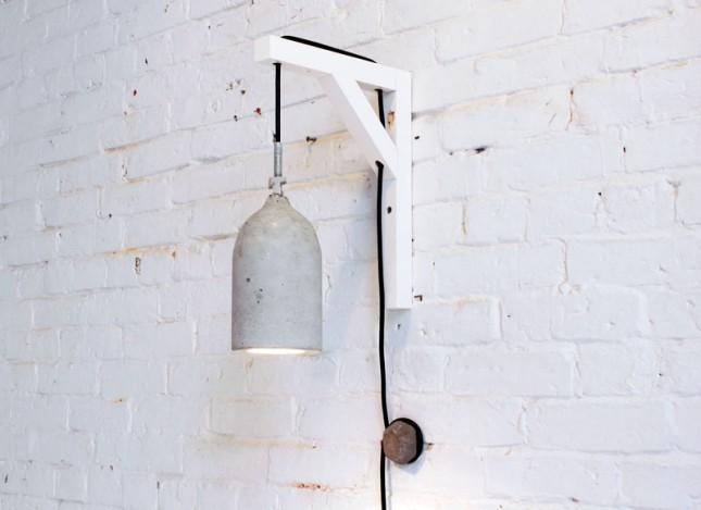 how to use plastic bottles to make concrete pendant lamps. Black Bedroom Furniture Sets. Home Design Ideas