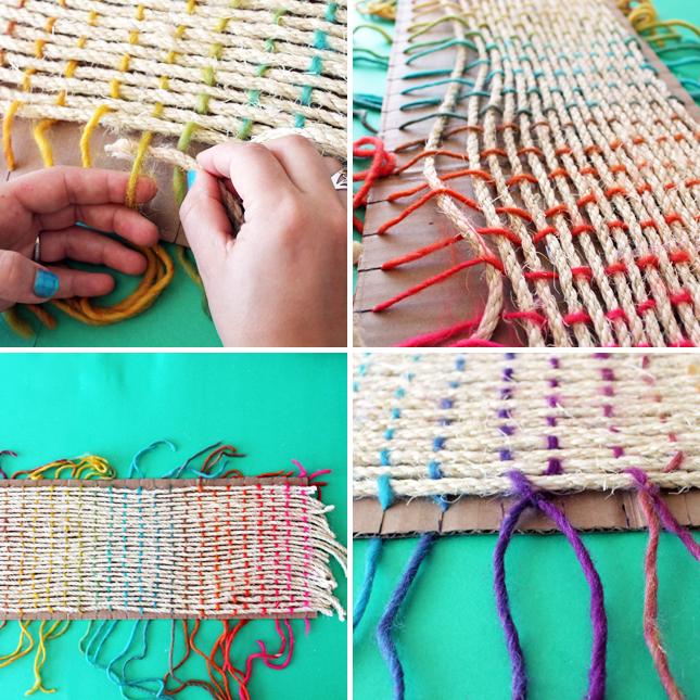Плетение ленты из ниток