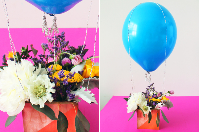 Balloon Centerpiece With Vase : Festive ways to decorate balloons brit co