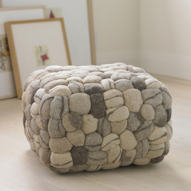 16 pretty poufs you need in your home brit co. Black Bedroom Furniture Sets. Home Design Ideas