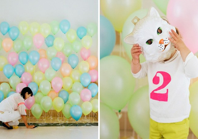 16 fun photo backdrop ideas for your next party brit co for How to make a balloon and streamer backdrop