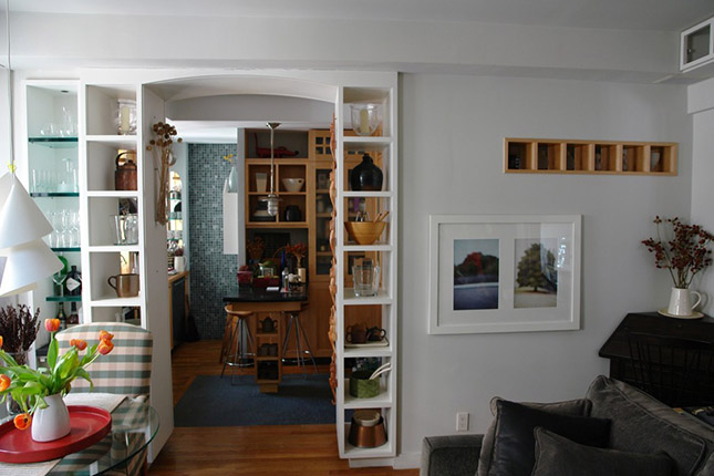 Dining Room Open Staggered Shelving