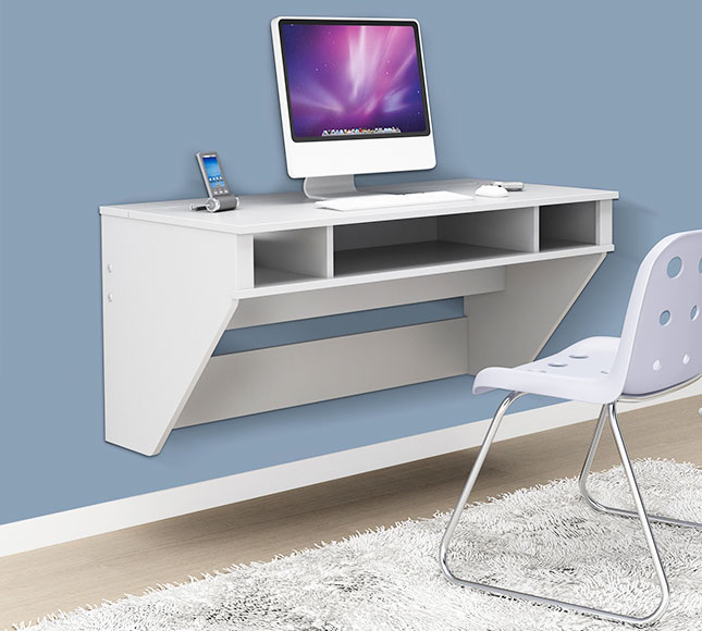 Will a wall mounted desk help tighten up your small space? Tell us in