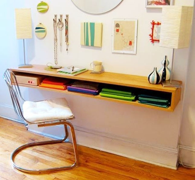 Space Saver: 22 Wall-Mounted Desks to Buy or DIY | Brit + Co