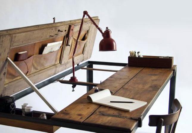 desk building wood