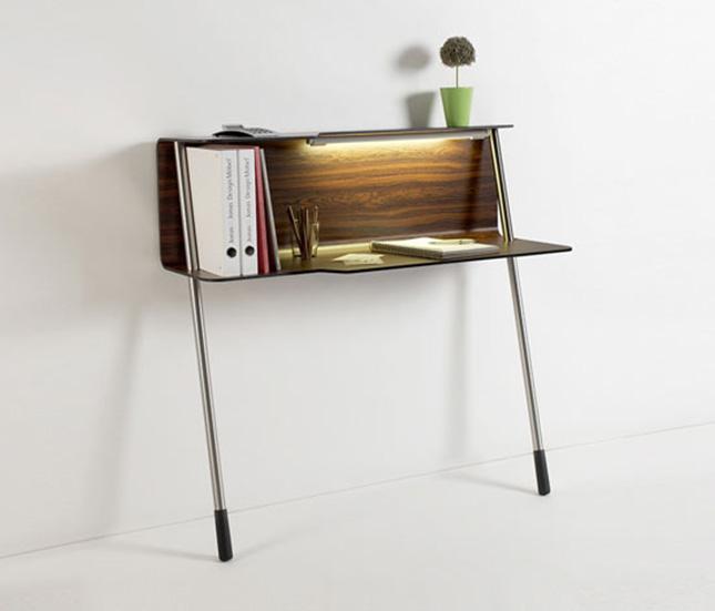 15 creative multi functional desks brit co - Small spaces desk style ...