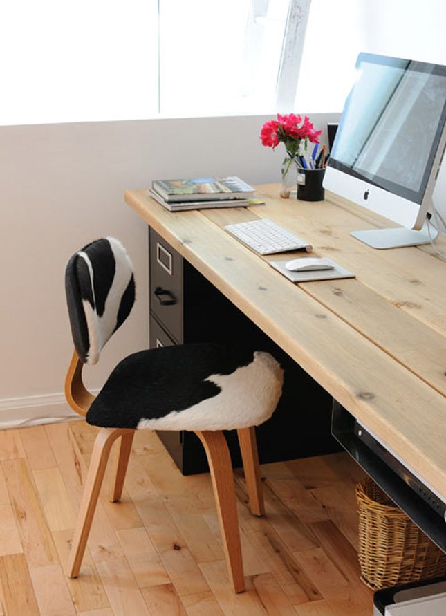 Workin it 15 diy desks you can build brit co Diy home office desk plans