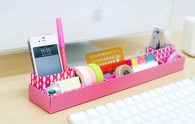 11. Desk Organizer Tray ($17): We love the candy-colored pink on this