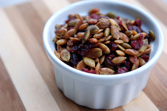 14. Toasted Pumpkin Seeds and Cranberries : This simple snack is a ...