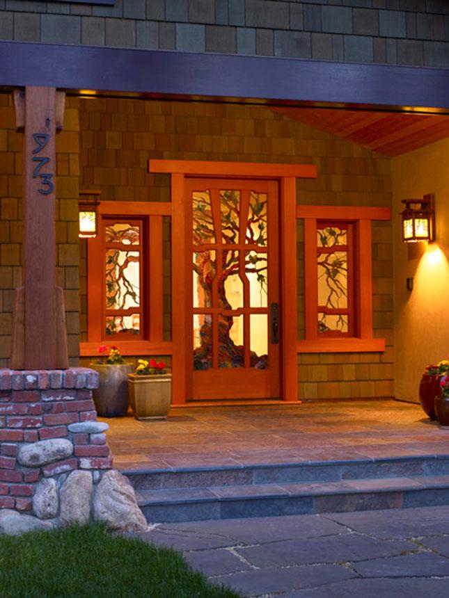 12 fresh fall front door decor ideas brit co. Black Bedroom Furniture Sets. Home Design Ideas