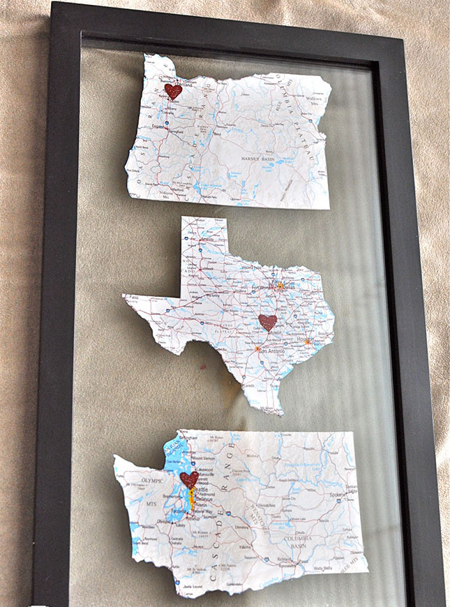 58 maps for Diy map wall art