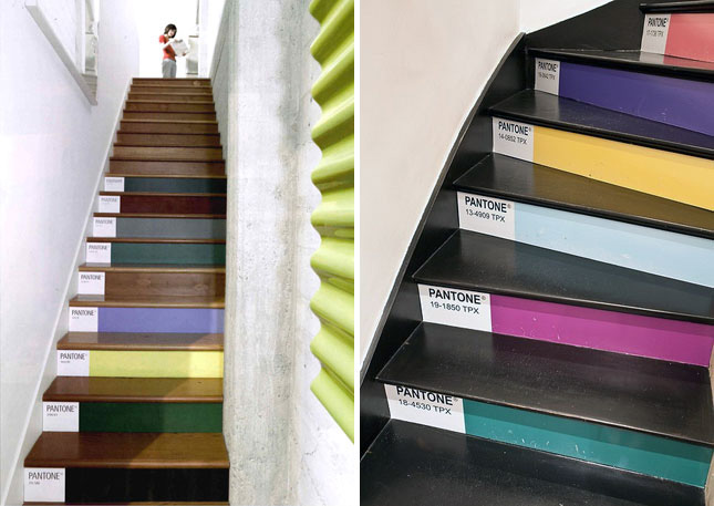 Pantone stairs decorate your stairs with the colors you love