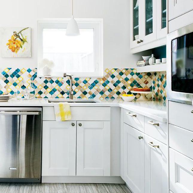 46 Kitchen With A Colorful Tile Backsplash Genius Via Edgewater Studio