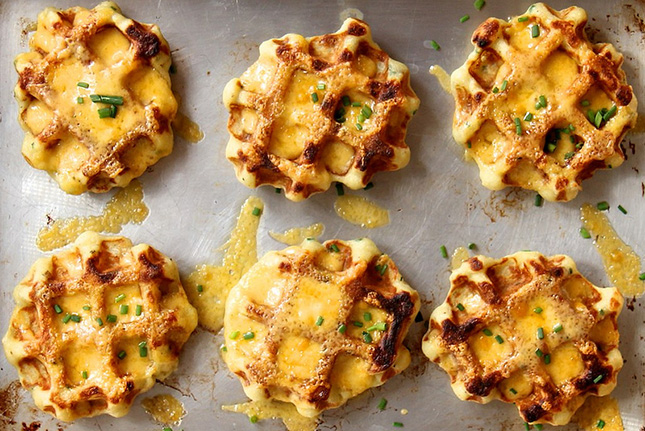 11. Mashed Potato. Cheddar, and Chive Waffles : Somewhere between a ...