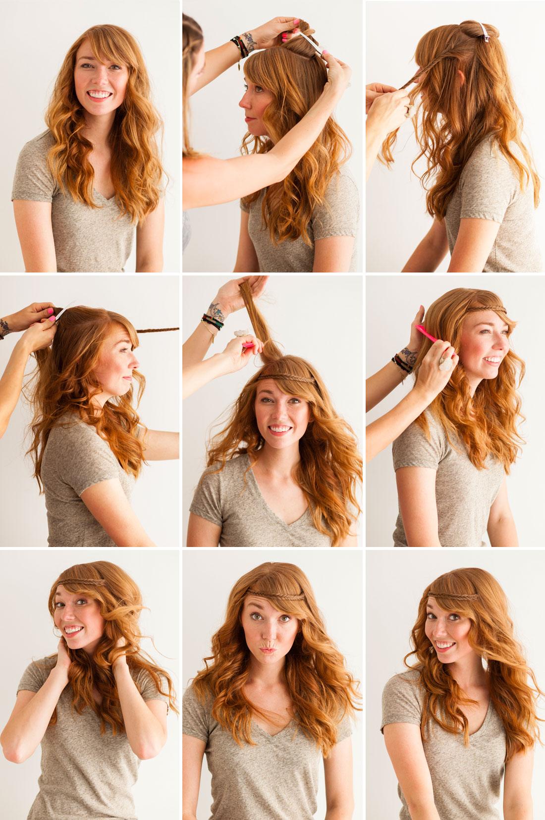 Прически с волнистыми волосами в домашних условиях
